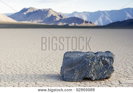 Mysteriously Moving Rocks At The Racetrack Playa In Death Valley National Park, California
