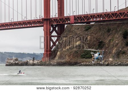 To The Rescue Under Golden Gate Bridge