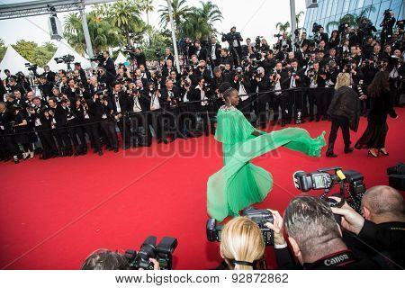 CANNES, FRANCE - MAY 13: Samir Hussein. Opening Ceremony 'La Tete Haute' Premiere. 68th Annual Cannes Film Festival at Palais des Festivals on May 13, 2015 in Cannes, France.