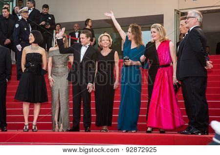 Film team.Opening Ceremony 'La Tete Haute' Premiere. 68th Annual Cannes Film Festival at Palais des Festivals on May 13, 2015 in Cannes, France.