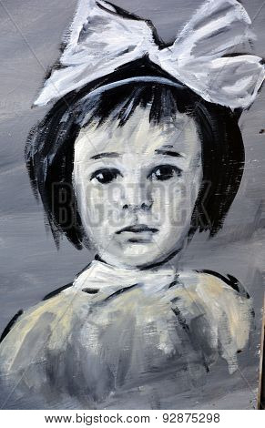 Street art child