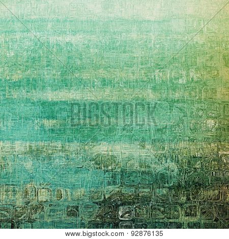Old style detailed texture - retro background with space for text or image. With different color patterns: yellow (beige); brown; cyan; green