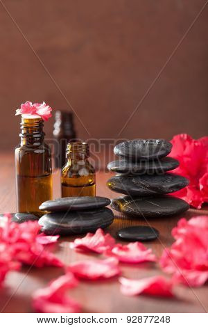 essential oil azalea flowers black massage stones