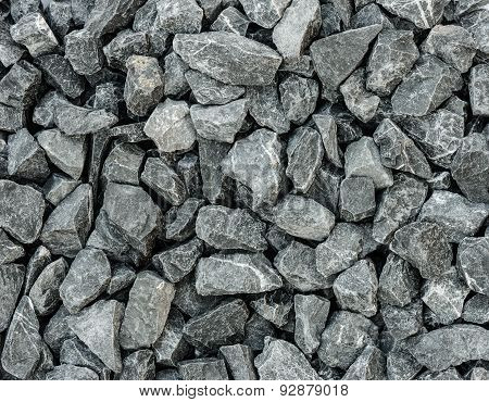 Grey Granite Gravel Background For Mix Concrete