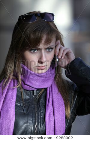 Upset Woman With Mobile Phone