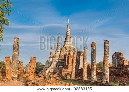 Wat Phra Si Sanphet At Ayutthaya, Thailand