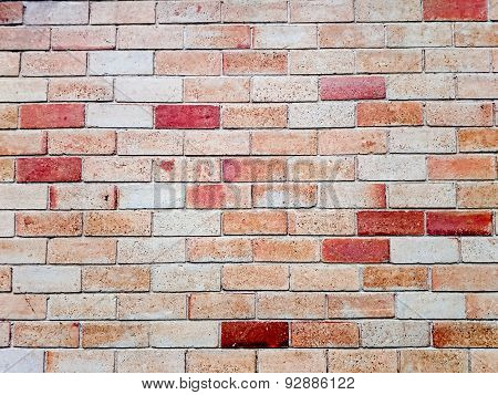 Brick wall in a background. Effected light image