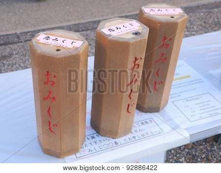Japanese love omikuji, fortune telling stick