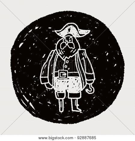 Pirate Captain Doodle