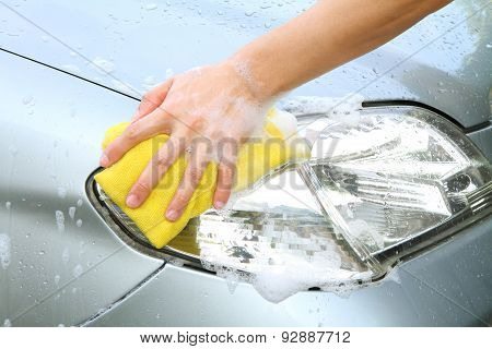 headlight wash / car wash