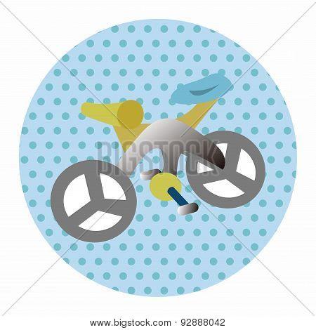 Transportation Bike Theme Elements Vector,eps