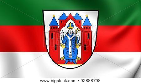 Flag Of The Aschaffenburg City, Germany.