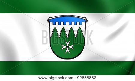 Flag Of The Burgwald, Germany.