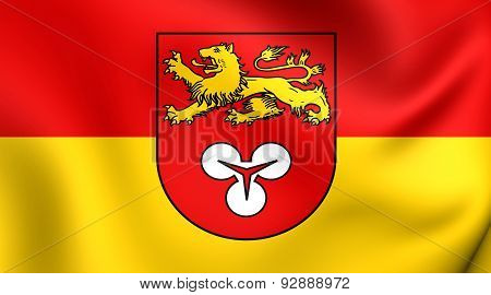 Flag Of The Hanover Region, Germany.