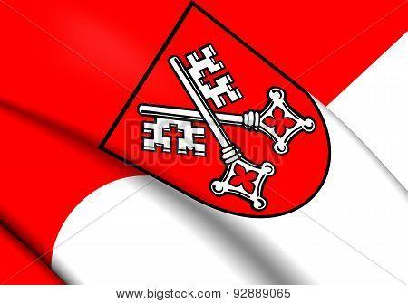 Flag Of Regensburg, Germany.