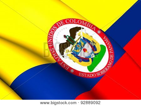 Sovereign State Of Panama, 1863-1886 (colombia) Flag.