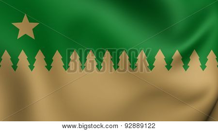 Flag Of The Greater Sudbury, Canada.