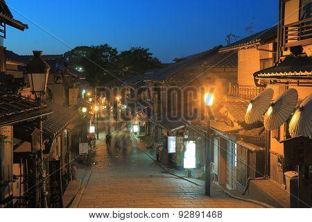 Old street Higashiyama Kyoto Japan
