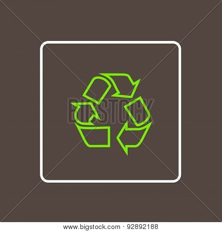 Recycle Icon Thin Line Simple Logo Minimalistic Style