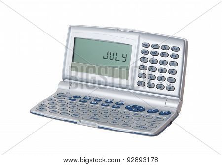 Electronic Personal Organiser Isolated - July