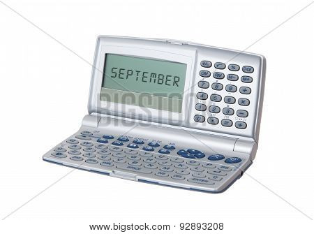 Electronic Personal Organiser Isolated - September