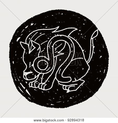 Leo Constellation Doodle
