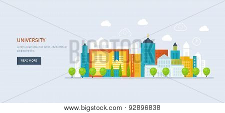 School and university building icon. Urban landscape.