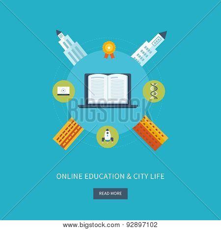 School and university building icon. Urban landscape.
