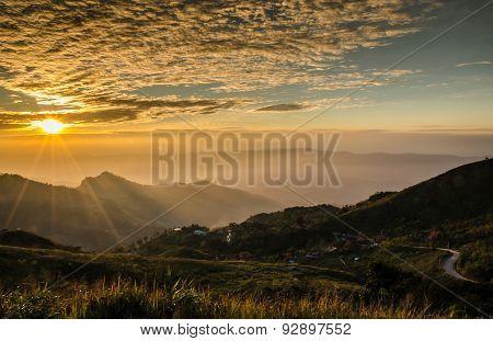 Sunset In Phatung Mountain, Chiang Rai, Thailand