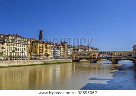 Embankment Of Arno River, Florence
