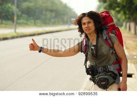 Hitchhiking Man