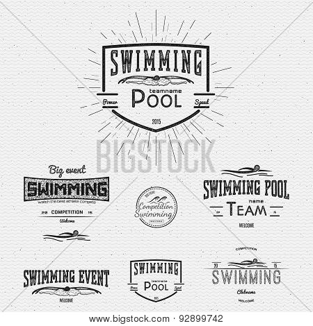 Swimming Badges And Labels For Any Use