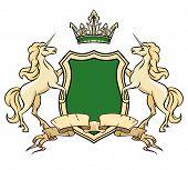 image of unicorn  - Coat of arms logo template - JPG