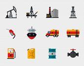 foto of petroleum  - Petrol production - JPG