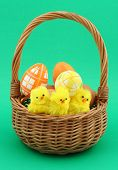 foto of easter basket eggs  - close - JPG
