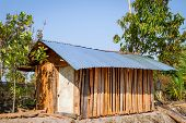 pic of farm-house  - Small wooden house in farm of Thailand - JPG