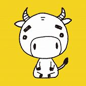 pic of chinese zodiac  - Chinese Zodiac Cow Doodle Drawing - JPG