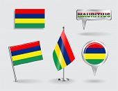 picture of mauritius  - Set of Mauritius pin - JPG