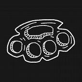 picture of brass knuckles  - Knuckles Doodle - JPG