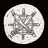picture of rudder  - Knife And Rudder Doodle - JPG