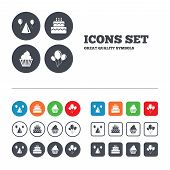 picture of birthday hat  - Birthday party icons - JPG