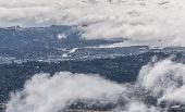 foto of marines  - View of Marin County covered by heavy fog under a blue sunny day - JPG