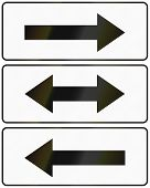picture of traffic sign  - Polish arrow signs used as additional panels in traffic signs - JPG