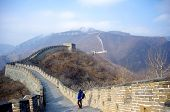 foto of mongol  - The great wall of china outside of beijing in winter - JPG