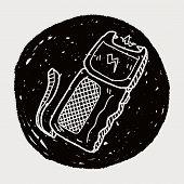 foto of taser  - Stun Gun Doodle - JPG