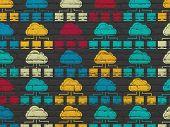 foto of wall cloud  - Cloud technology concept - JPG