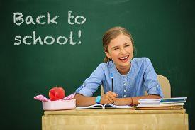 picture of schoolgirl  - Back to school  - JPG