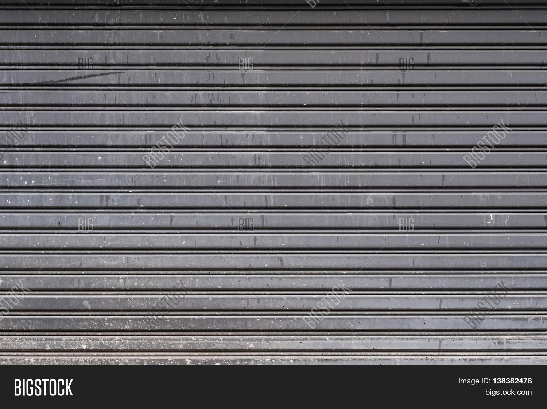 Steel Garage Door Texture old steel garage door stripped texture, horizontal lines stock