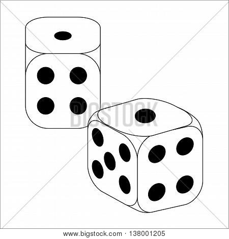Black and White Dice With Ones Roll