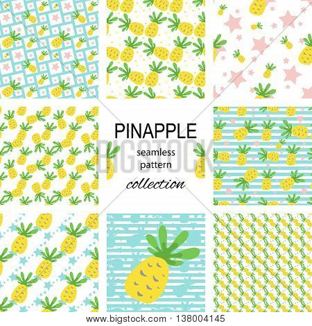 Seamless Pineapple Pattern